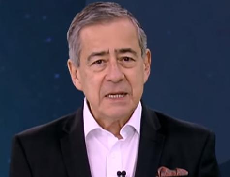 Paulo Henrique Amorim na apresentação do 'Domingo Espetacular'