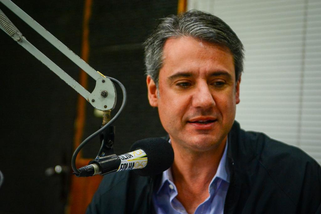 Deputado Fernando Monteiro (PP) em entrevista à Rádio Folha