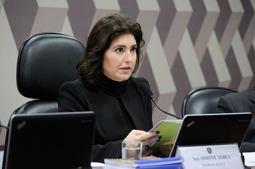 Presidente da CCJ, Simone Tebet