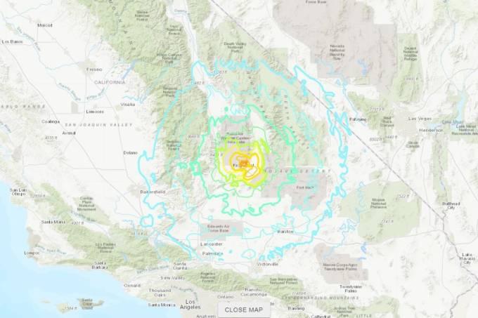 Tremor foi registrado em Ridgecrest, no Deserto do Mojave, a cerca de 160 quilômetros de Los Angeles, a uma profundidade de 8 km