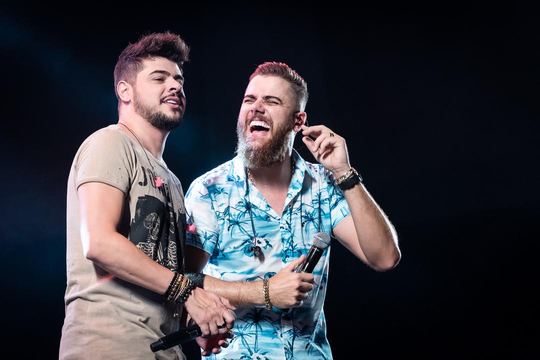 Cristiano (à esquerda) e Zé Neto (à direita)