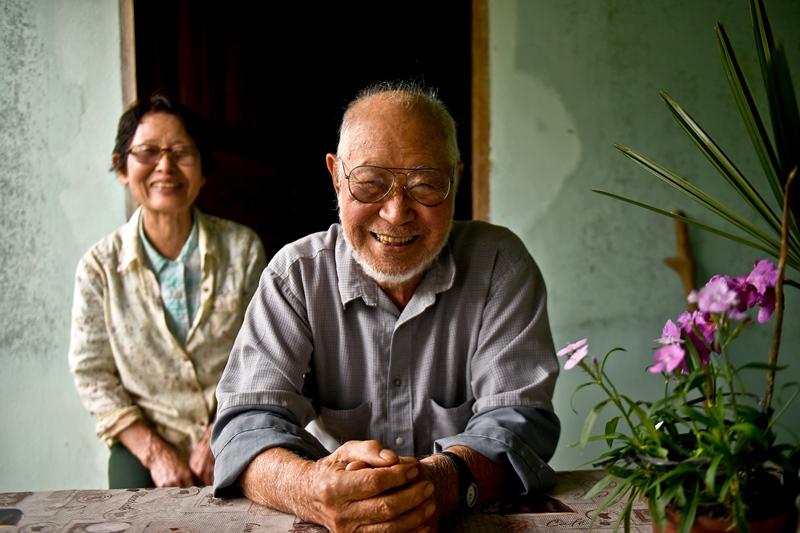 Sr. Tadatsune Sato e sua esposa, a Sra. Keiko Sato