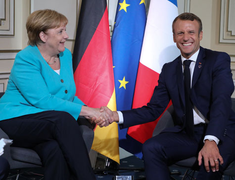 Angela Merkel e Macron