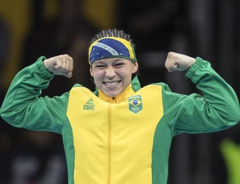 Beatriz Ferreira, da categoria até 60kg, ganhou ouro inédito em Pans