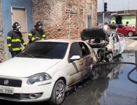 O incêndio ocorreu no inicio da tarde deste sábado(17)
