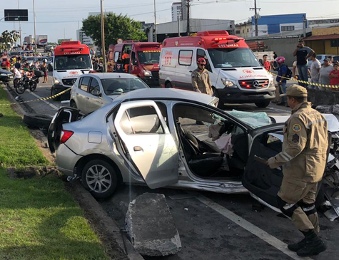 Acidente deixou oito vítimas feridas e ocasionou uma morte