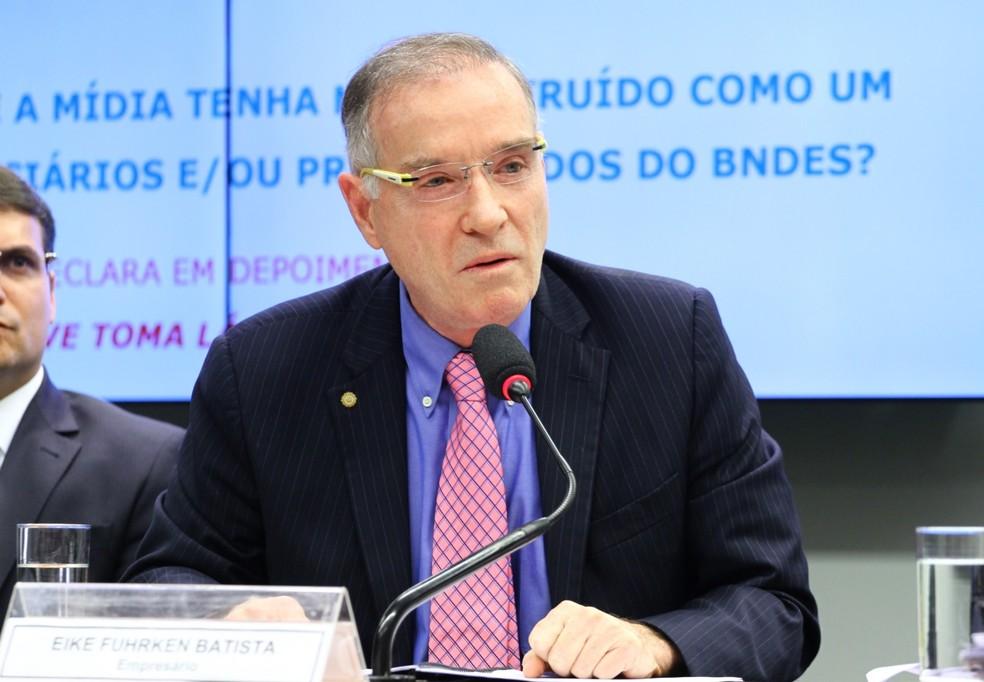 Empresário Eike Batista em depoimento na CPI do BNDES