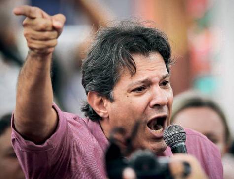 O ex-prefeito de São Paulo Fernando Haddad, do PT, chega ao Recife no próximo sábado (31)