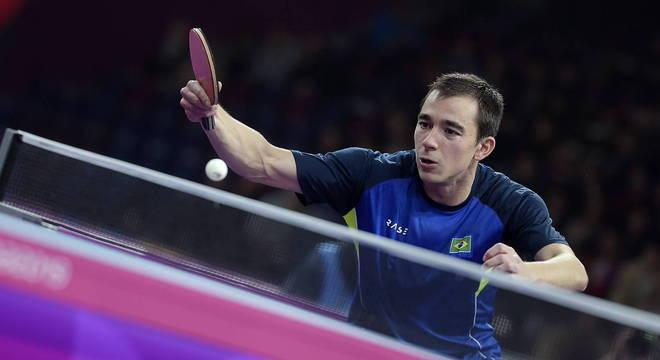 Hugo Calderano, atleta de tênis de mesa