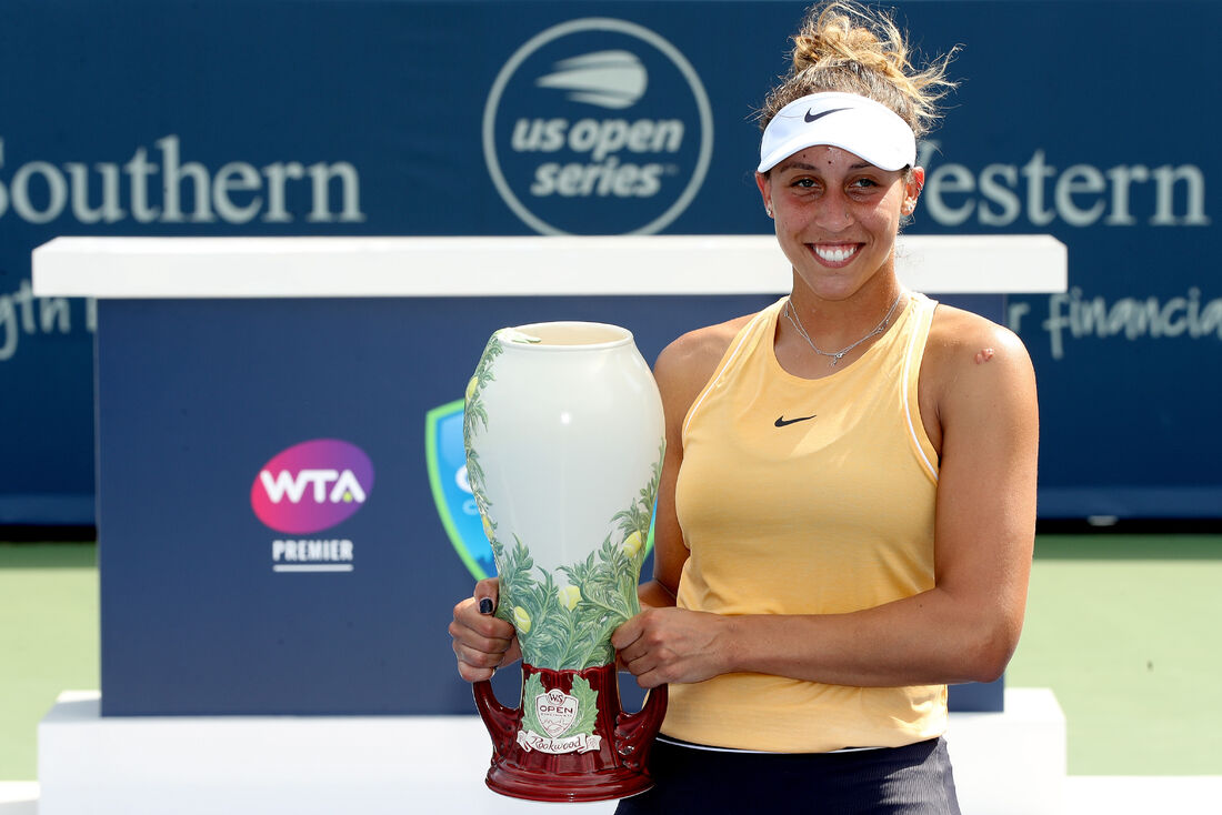Tenista Madison Keys venceu a final do torneio de Cincinatti.