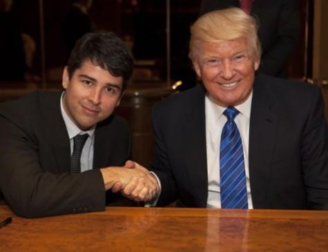 Paulo Figueiredo Filho em encontro com Donald Trump, presidente dos EUA