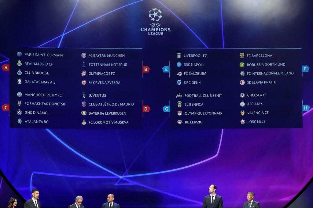 Sorteio definiu grupos da Champions League