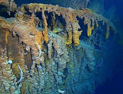 Exploradores descobriram que algumas partes do Titanic estão desaparecendo