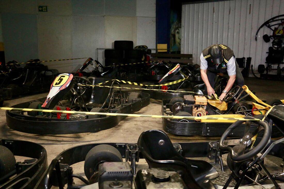 Pista de kart onde ocorreu o acidente com Débora Dantas