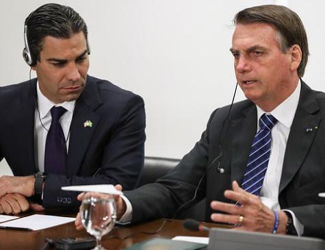 Prefeito de Miami Francis Suarez e o Presidente Jair Bolsonaro