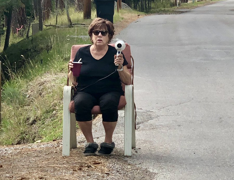 Patti Baumgartner usou a criatividade para resolver o problema na rua