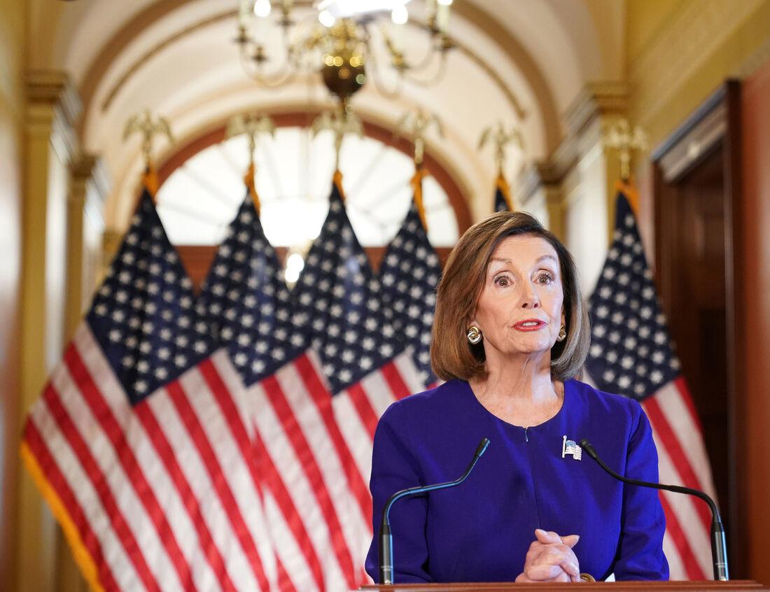 Presidente da Câmara dos Representantes dos Estados Unidos, Nancy Pelosi