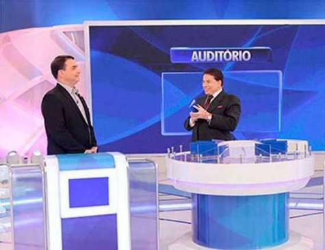 Flávio Bolsonaro, senador do RJ, participou do programa Sílvio Santos