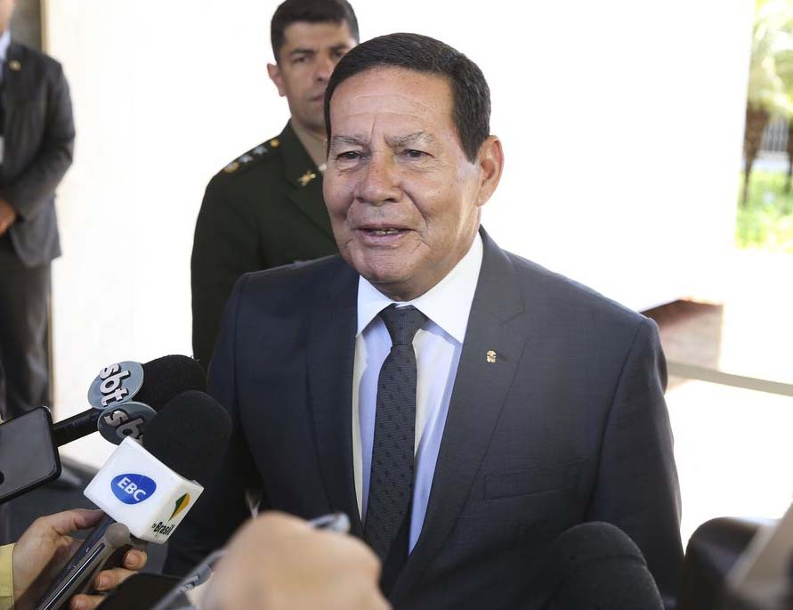 Vice-presidente do governo, Hamilton Mourão