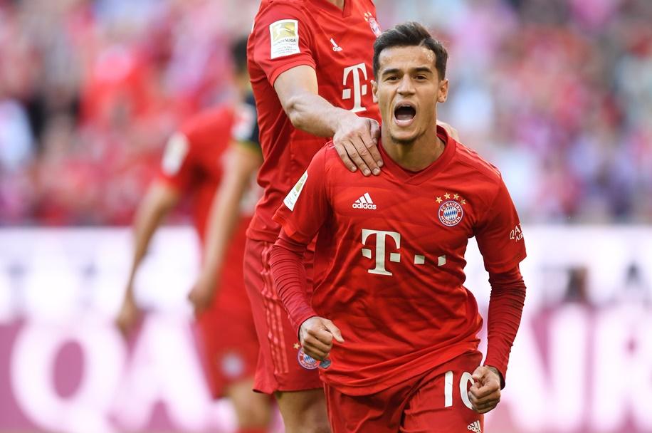 Coutinho marca o primeiro gol com a camisa do Bayern de Munique