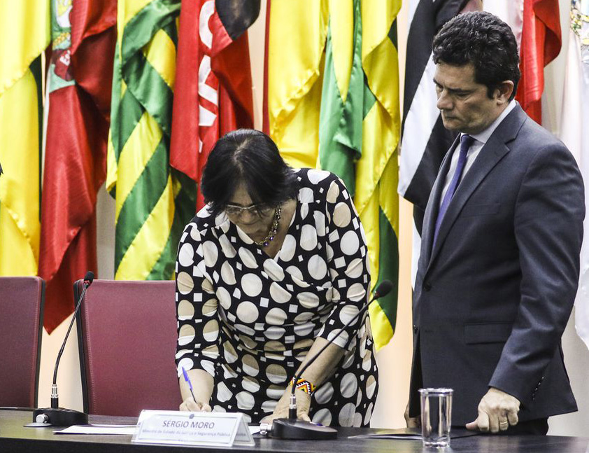 Damares Alves e Sergio Moro