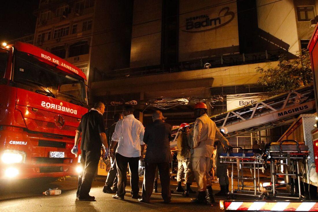 Incêndio no hospital Badim, no Rio de Janeiro