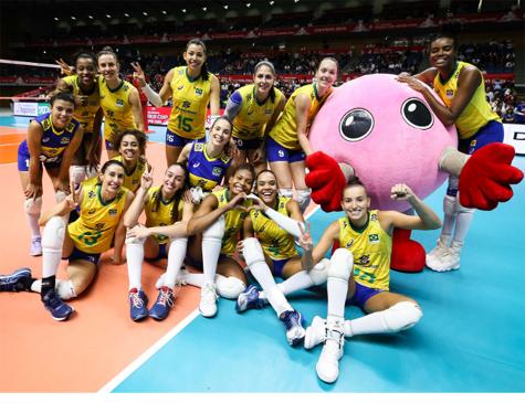 Brasil passou pela República Dominicana por 3 sets a 1
