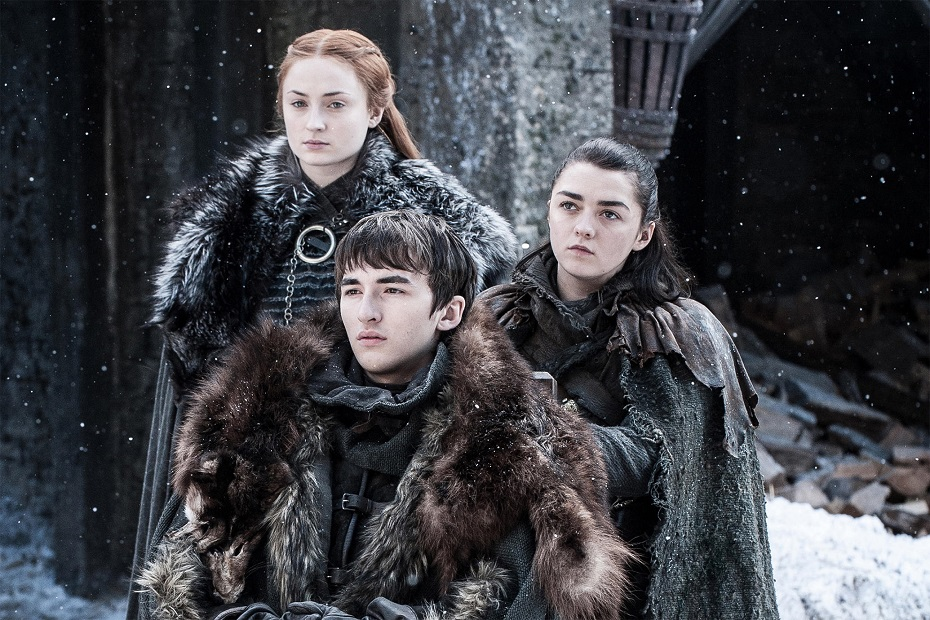 "Família Stark na série ""Game Of Thrones"""