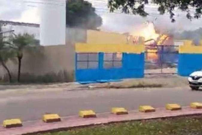 Trecho do vídeo que mostra a explosão