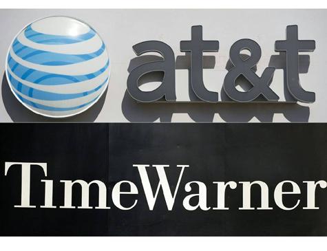 Combinação dos logotipos da AT&T e da Time Warner
