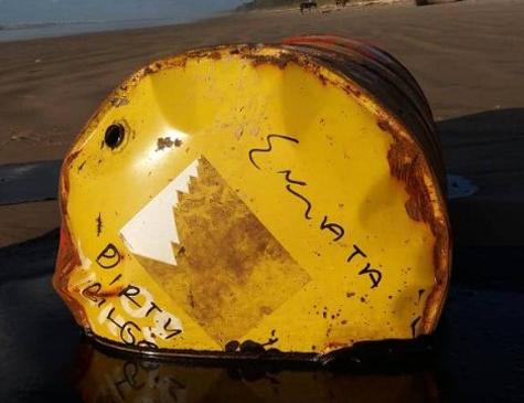 Barril de óleo encontrado