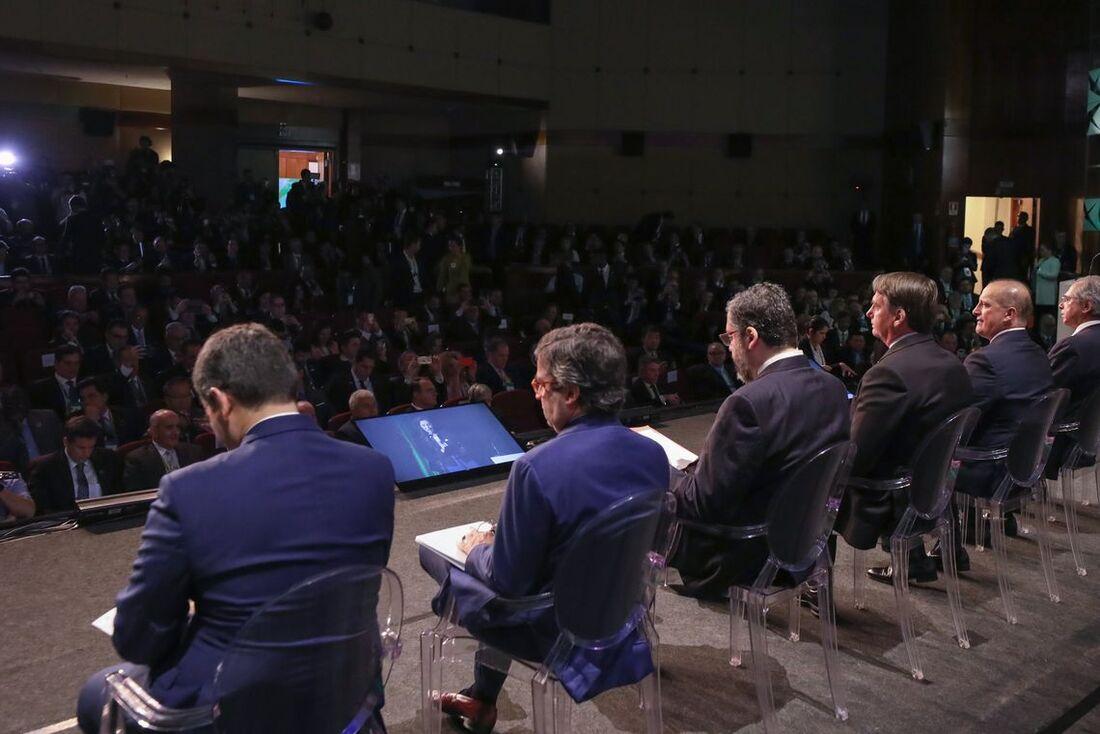 Bolsonaro participou da abertura do Fórum de Investimentos Brasil 2019, em São Paulo