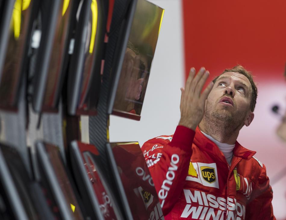 Sebastian Vettel, piloto da Ferrari