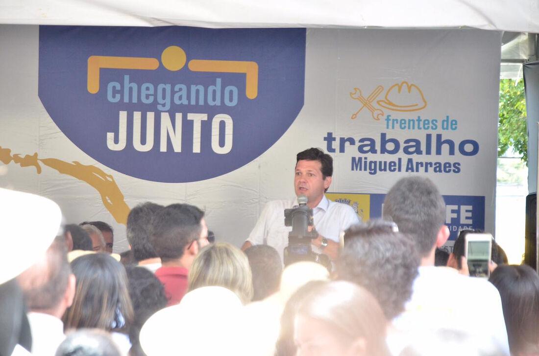 Lançamento do projeto Frentes de Trabalho Miguel Arraes