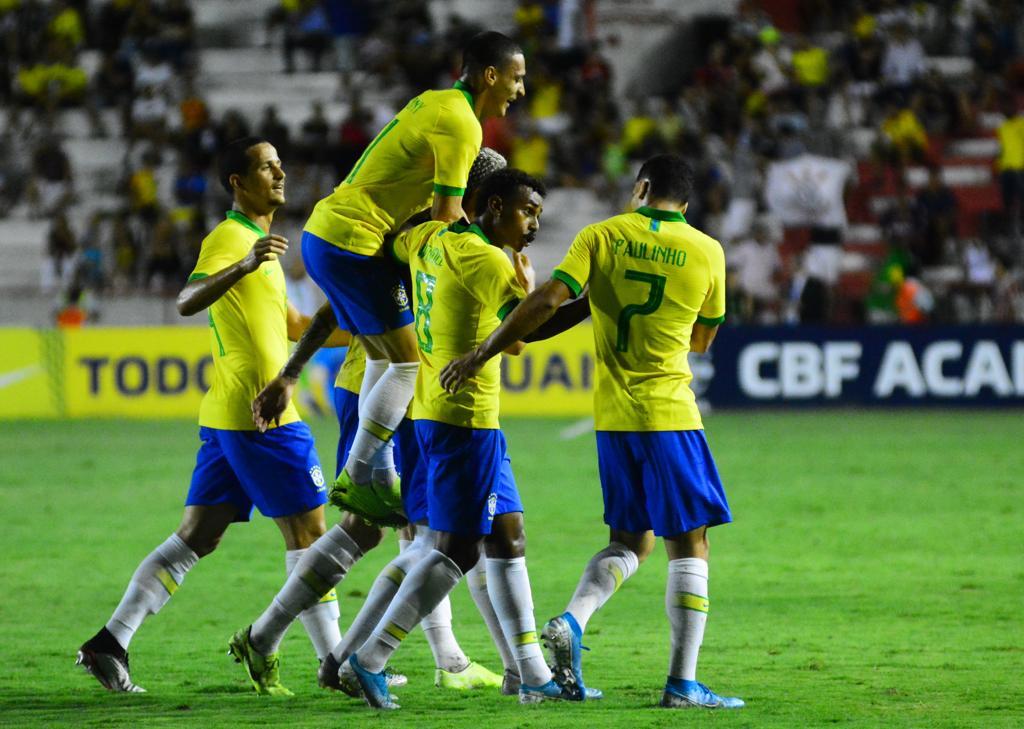 Brasil sub-23 goleou a Venezuela nos Aflitos, na semana passada