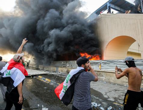 Manifestantes no Iraque