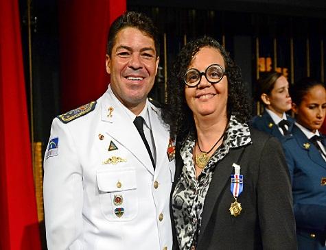 Coronel Manoel Cunha Filho e Leusa Santos