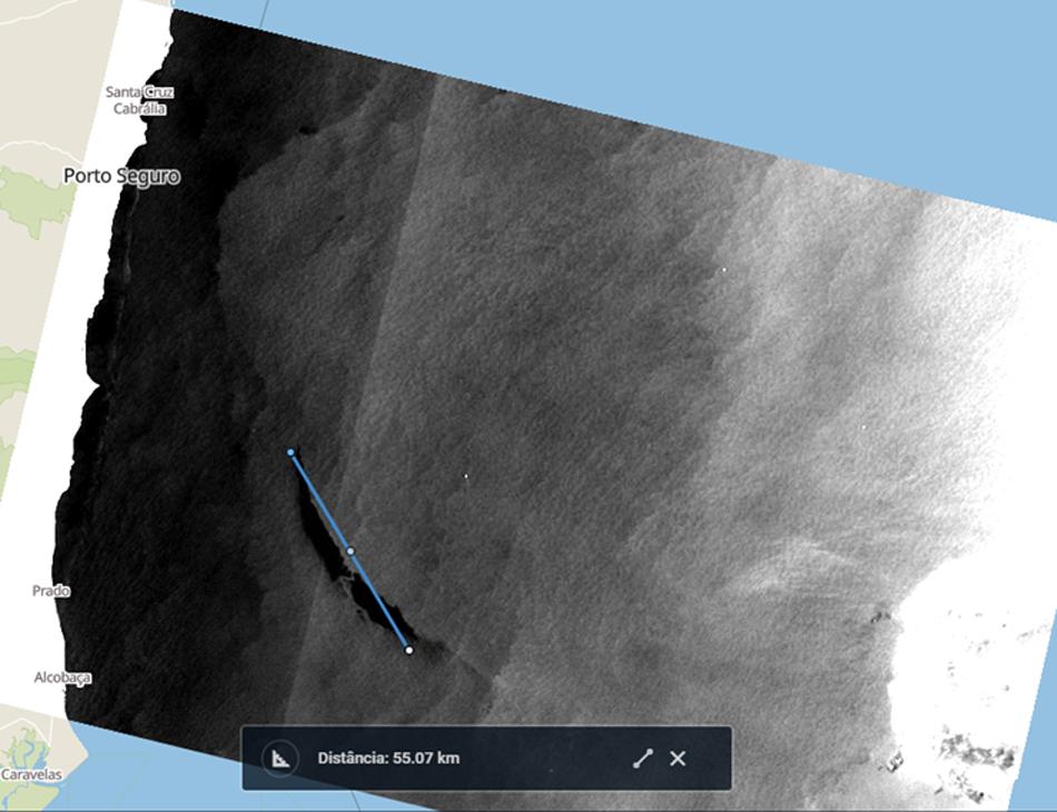 Manchas nas proximidades da Bahia foram identificadas por um satélite europeu