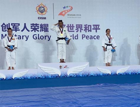 Rafaela Silva levou o ouro na categoria leve dos Jogos Mundiais Militares