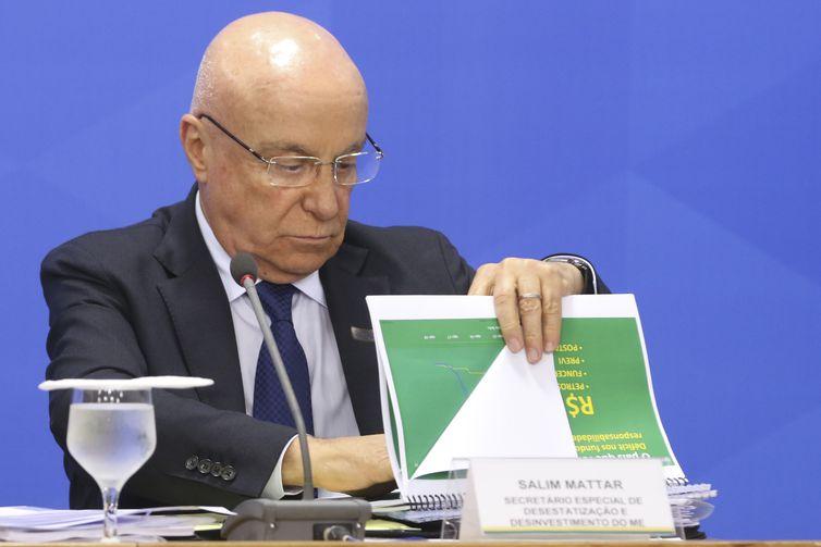 O secretário especial de Desestatização, Salim Mattar