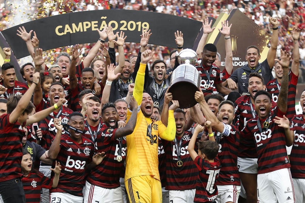 Flamengo comemora o bicampeonato da Libertadores