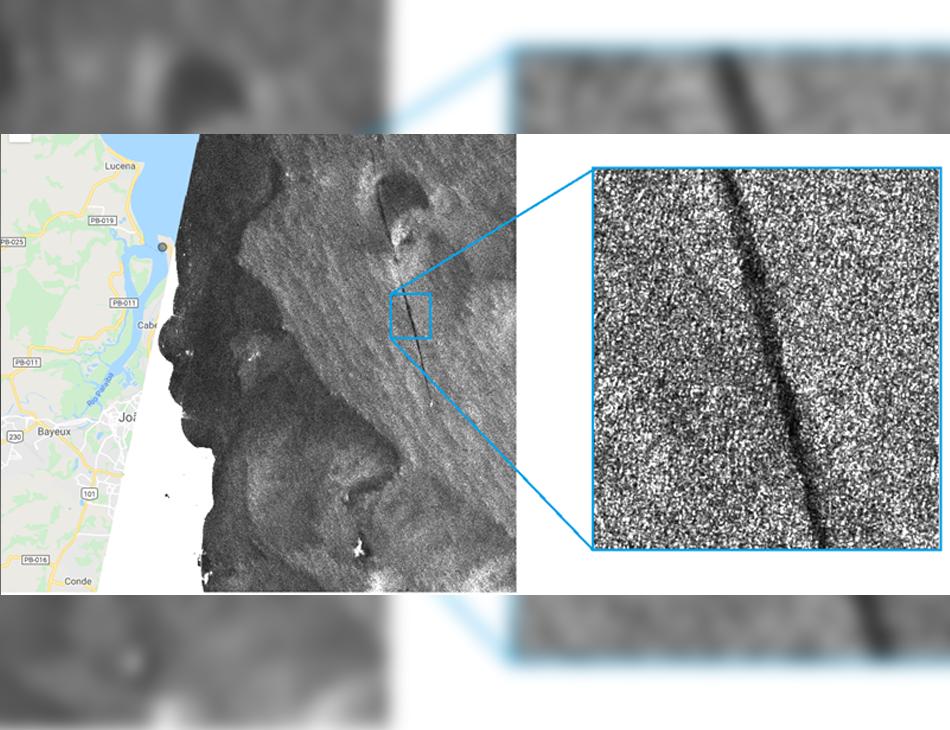 Satélite indica mancha de óleo próximo ao Litoral da Paraíba