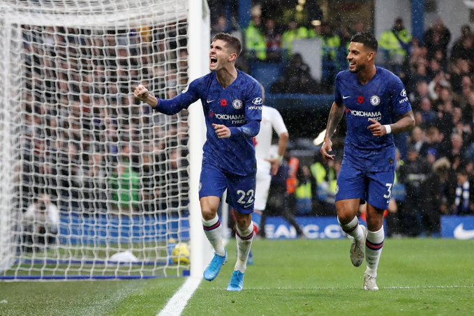 Pulisic marcou pela primeira vez no Stamford Bridge