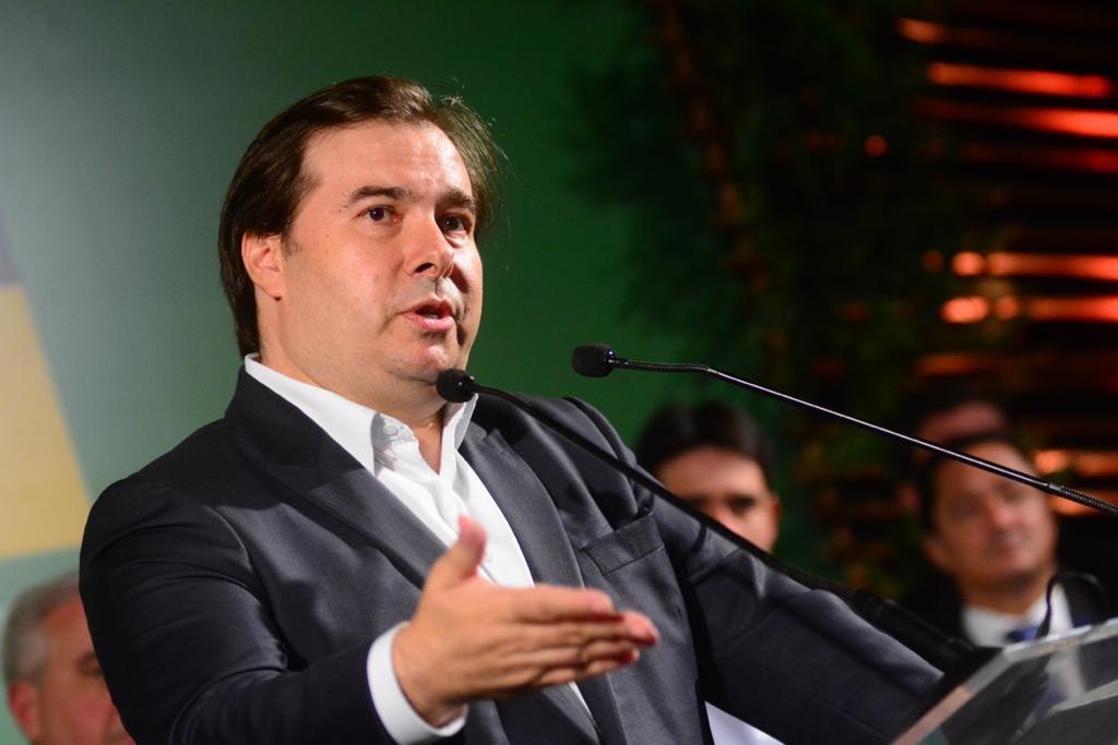 Presidente da Câmara dos Deputados, Rodrigo Maia (DEM-RJ), durante homenagem no Recife.