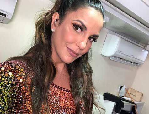 A cantora de axé Ivete Sangalo