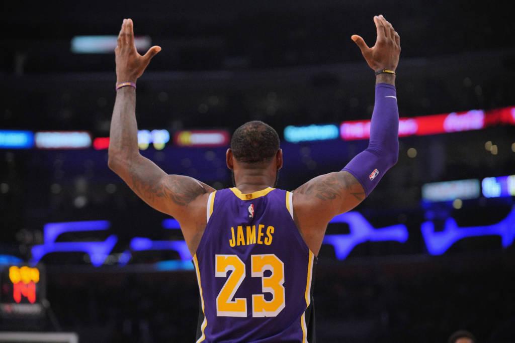 LeBron James, atleta dos Lakers