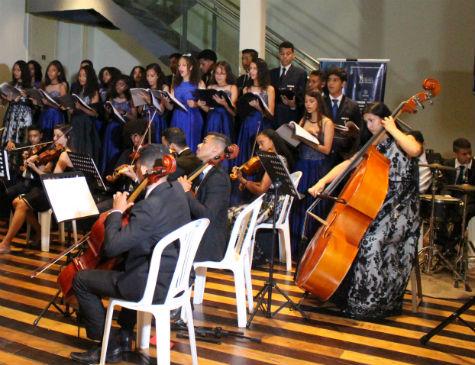 Cerimônia de homenagem aos 13 anos da Orquestra, na Alepe