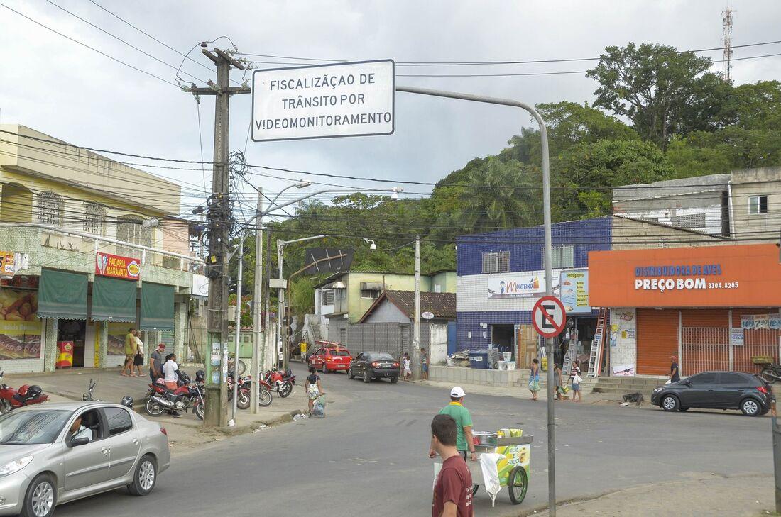 Videomonitoramento no bairro do Ibura