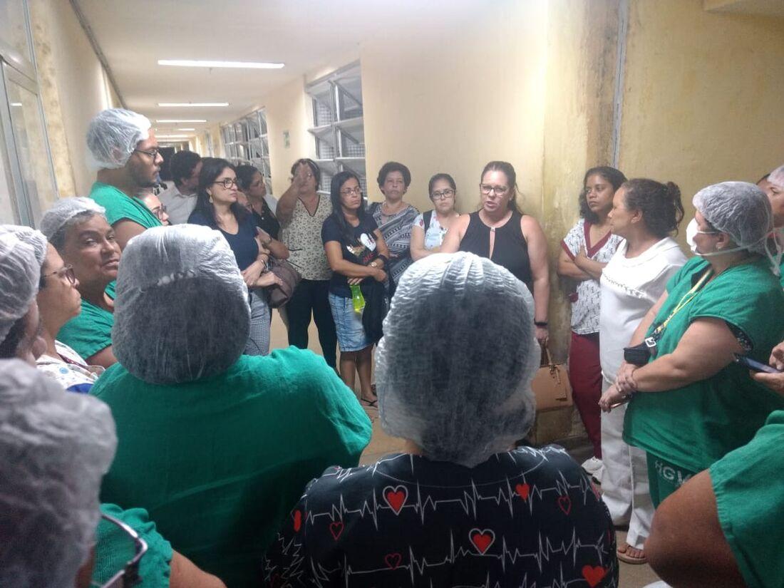 Profissionais de enfermagem do Hospital Getúlio Vargas