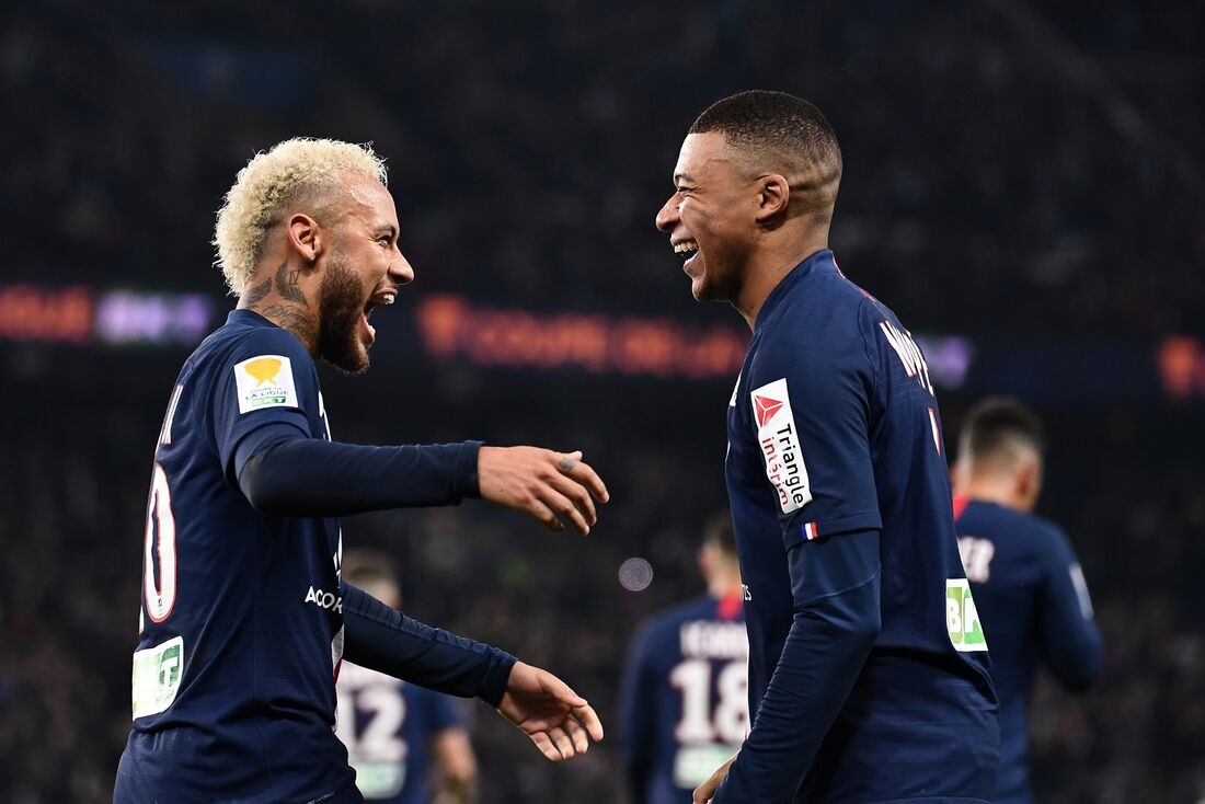 Neymar e Mbappé, atacantes do PSG